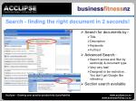 search finding the right document in 2 seconds