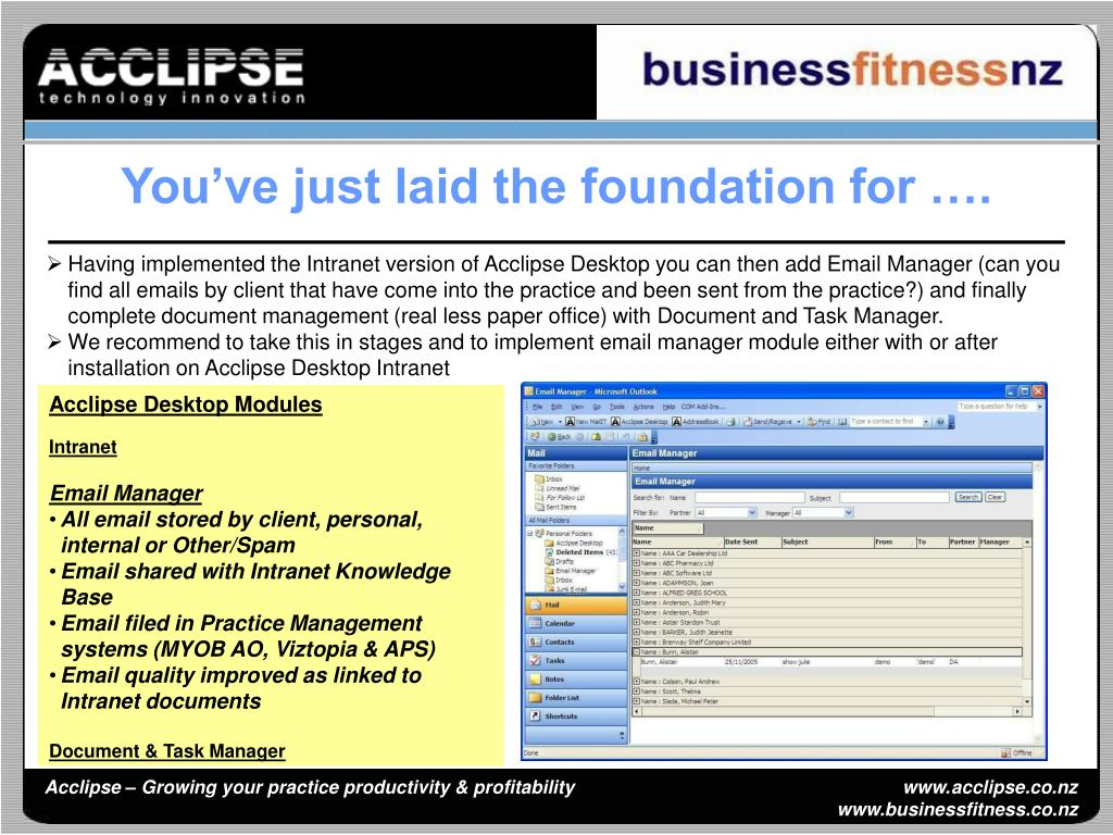 You've just laid the foundation for ….