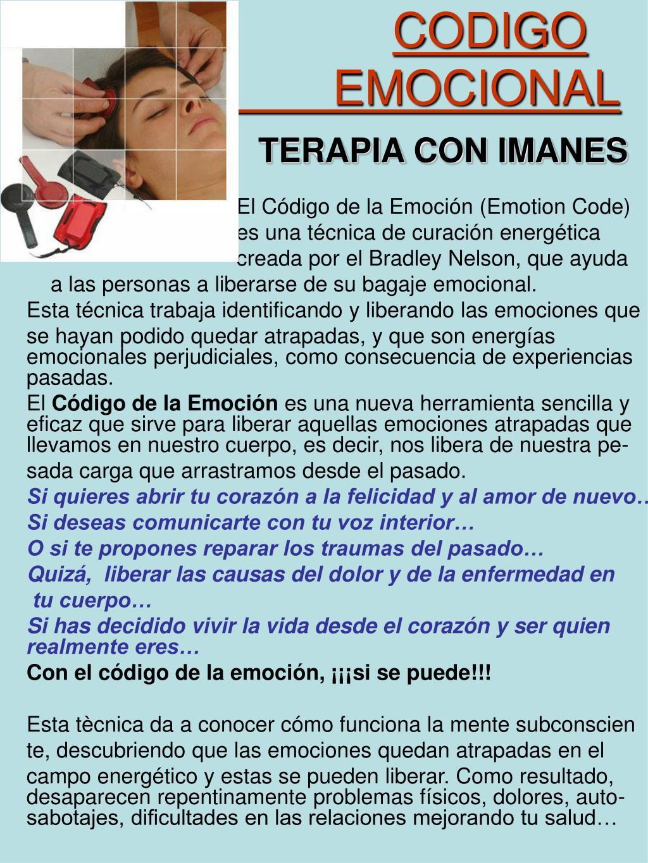 PPT - CODIGO EMOCIONAL TERAPIA CON IMANES PowerPoint ...
