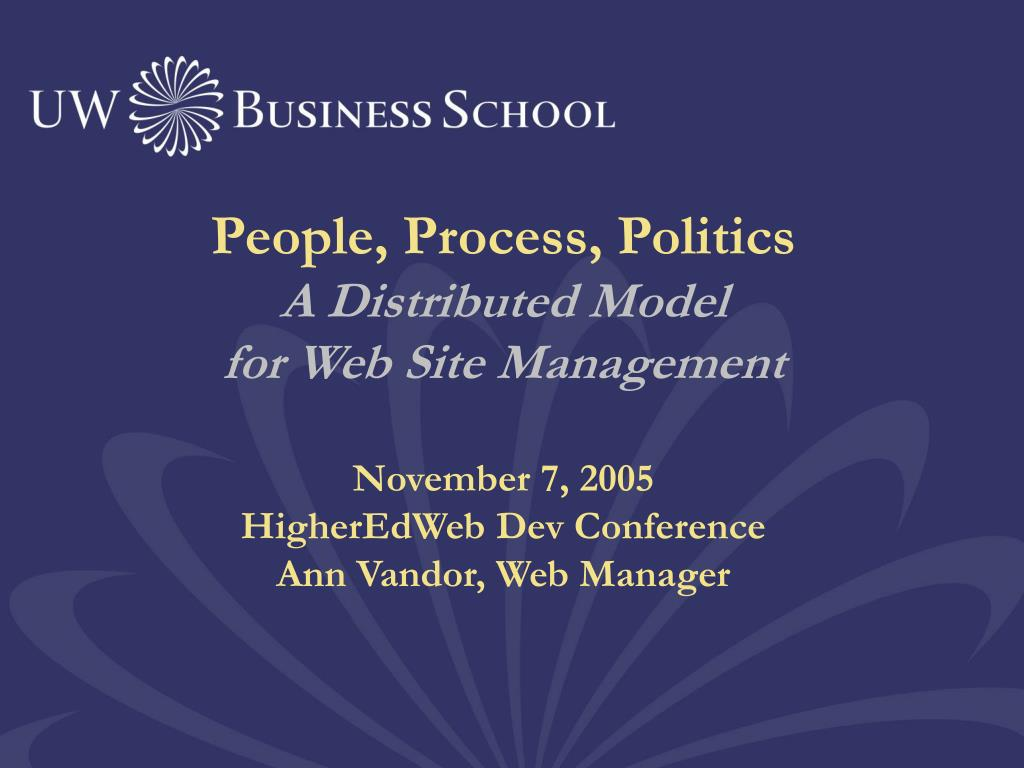 People, Process, Politics