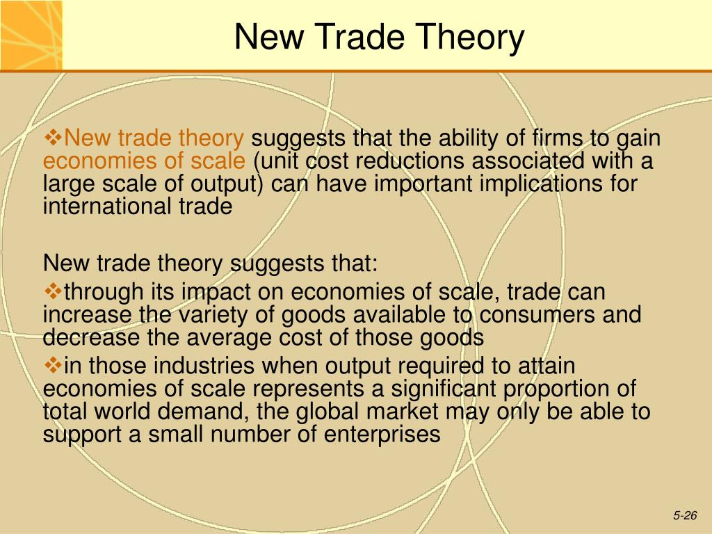 what is the international trade theory
