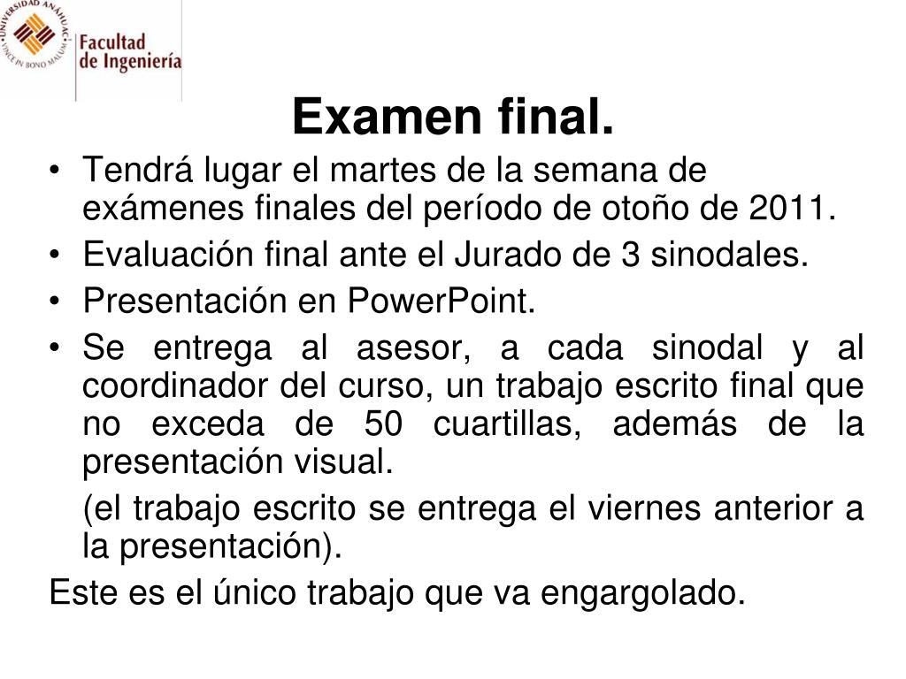 Examen final.