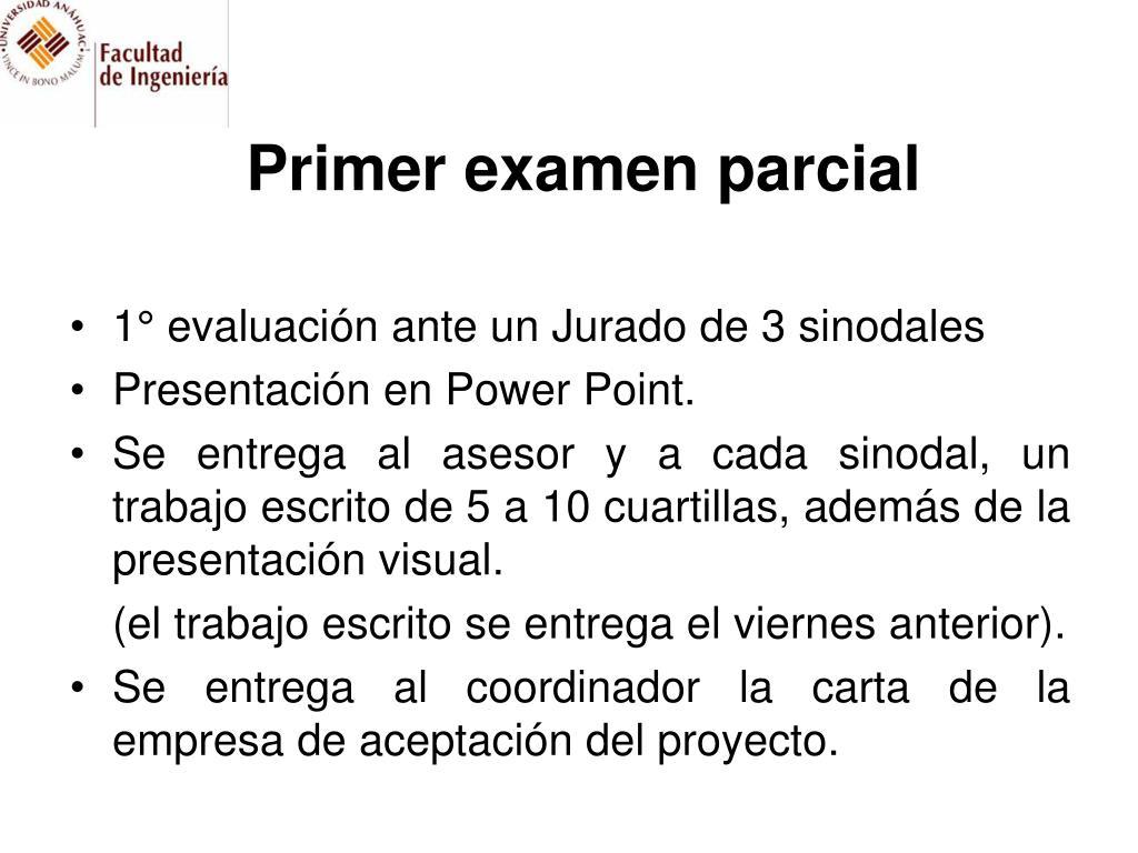 Primer examen parcial