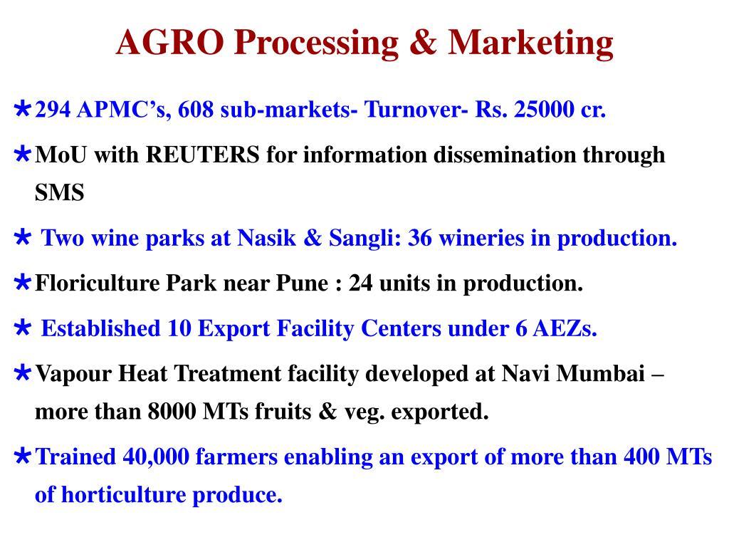 AGRO Processing & Marketing