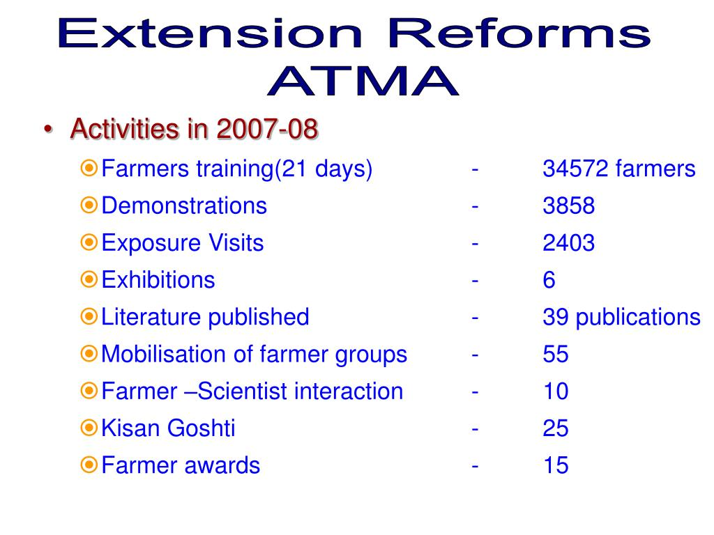 Extension Reforms