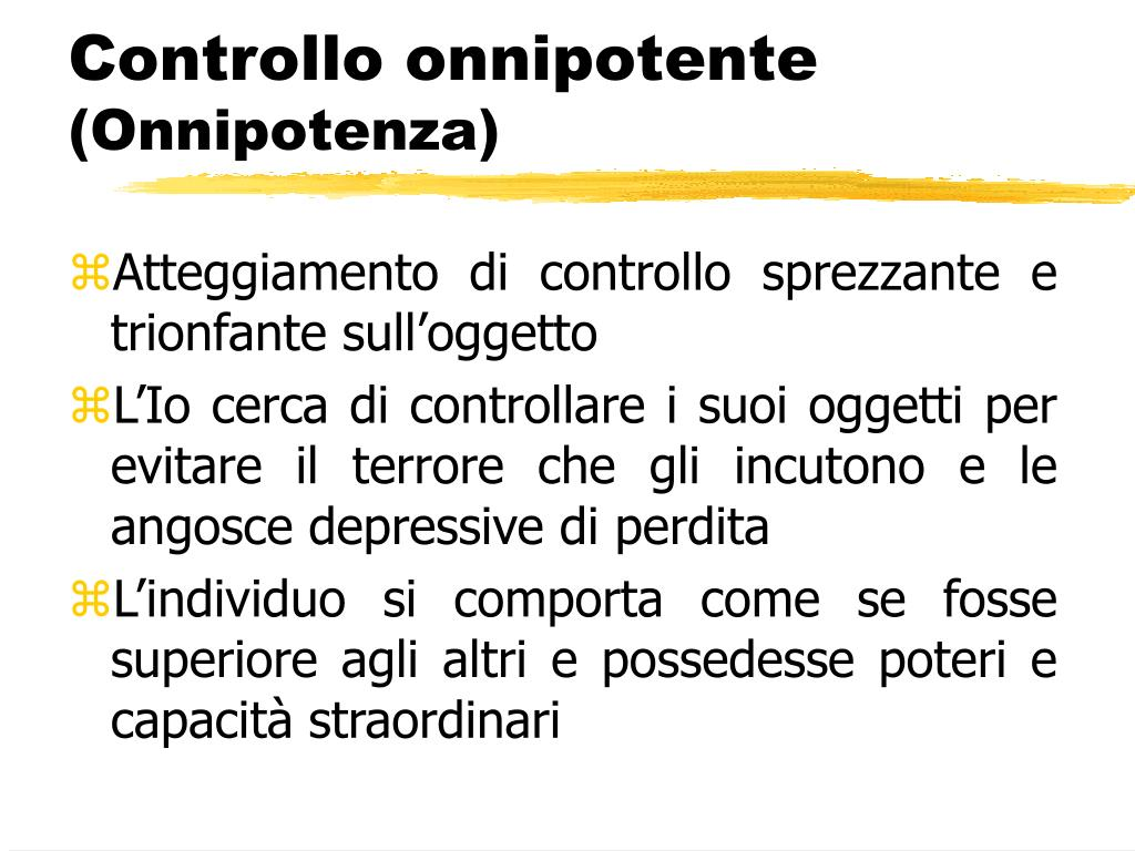 Controllo onnipotente