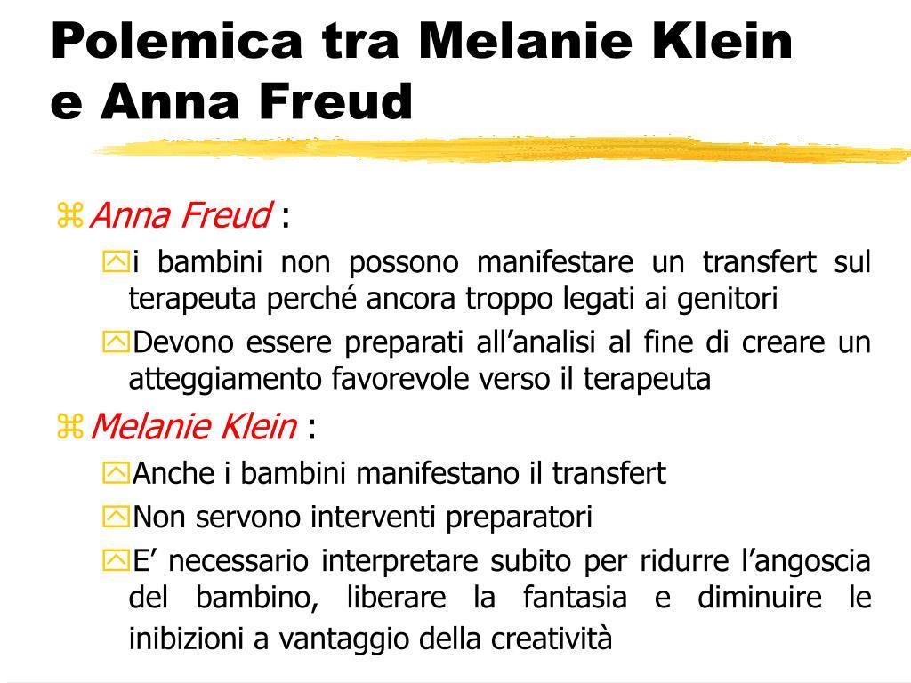 Polemica tra Melanie Klein