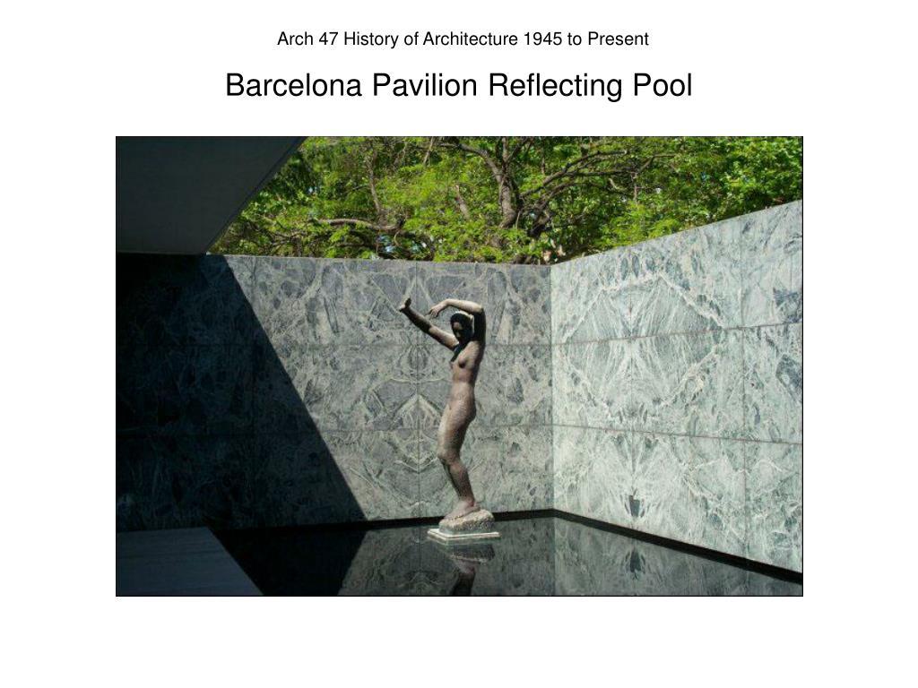 Barcelona Pavilion Reflecting Pool