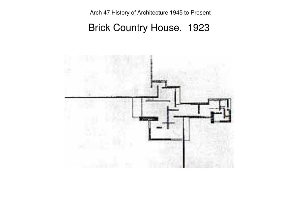 Brick Country House.  1923