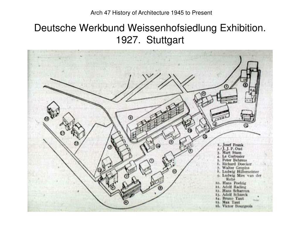 Deutsche Werkbund Weissenhofsiedlung Exhibition.