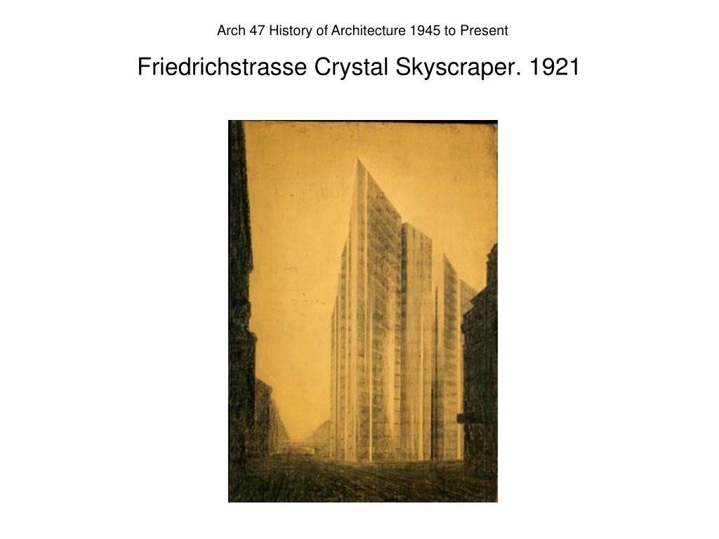 Friedrichstrasse Crystal Skyscraper. 1921