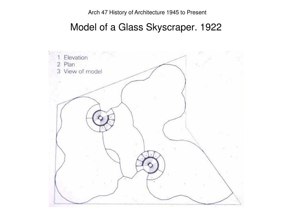 Model of a Glass Skyscraper. 1922