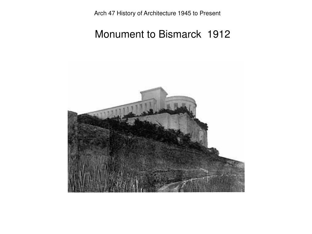 Monument to Bismarck  1912