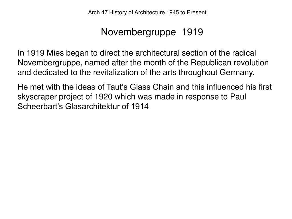 Novembergruppe  1919
