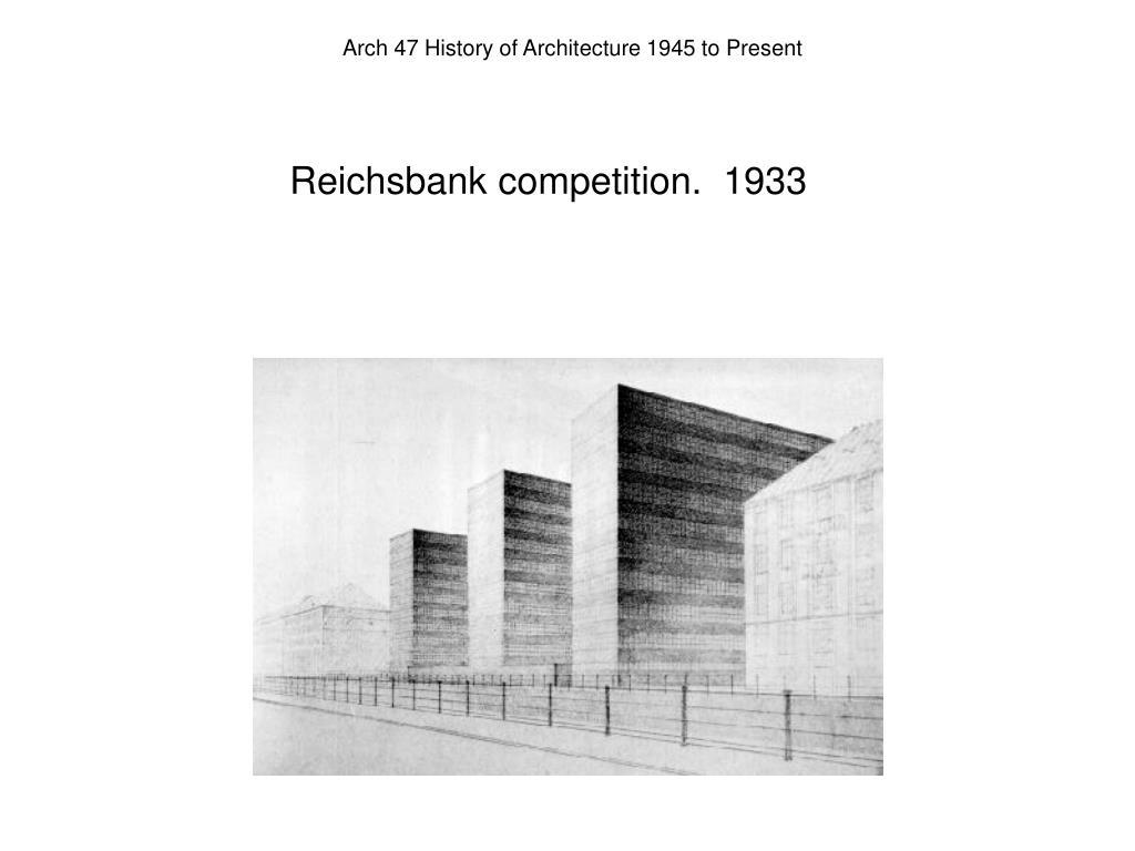 Reichsbank competition.  1933