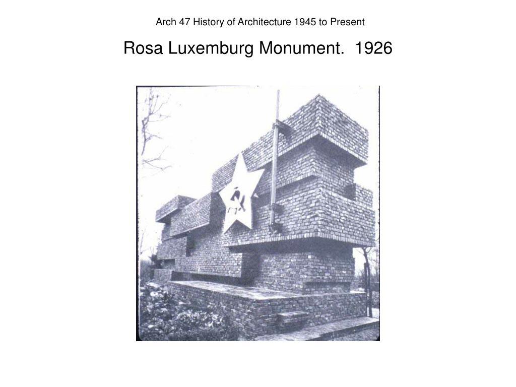 Rosa Luxemburg Monument.  1926