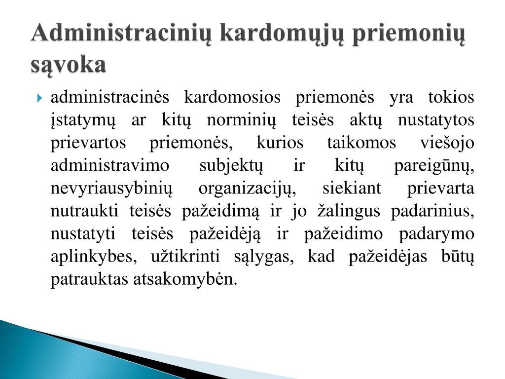 Administracinių kardomųjų priemonių sąvoka
