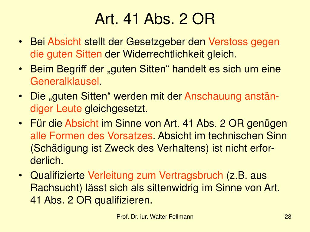 Art. 41 Abs. 2 OR
