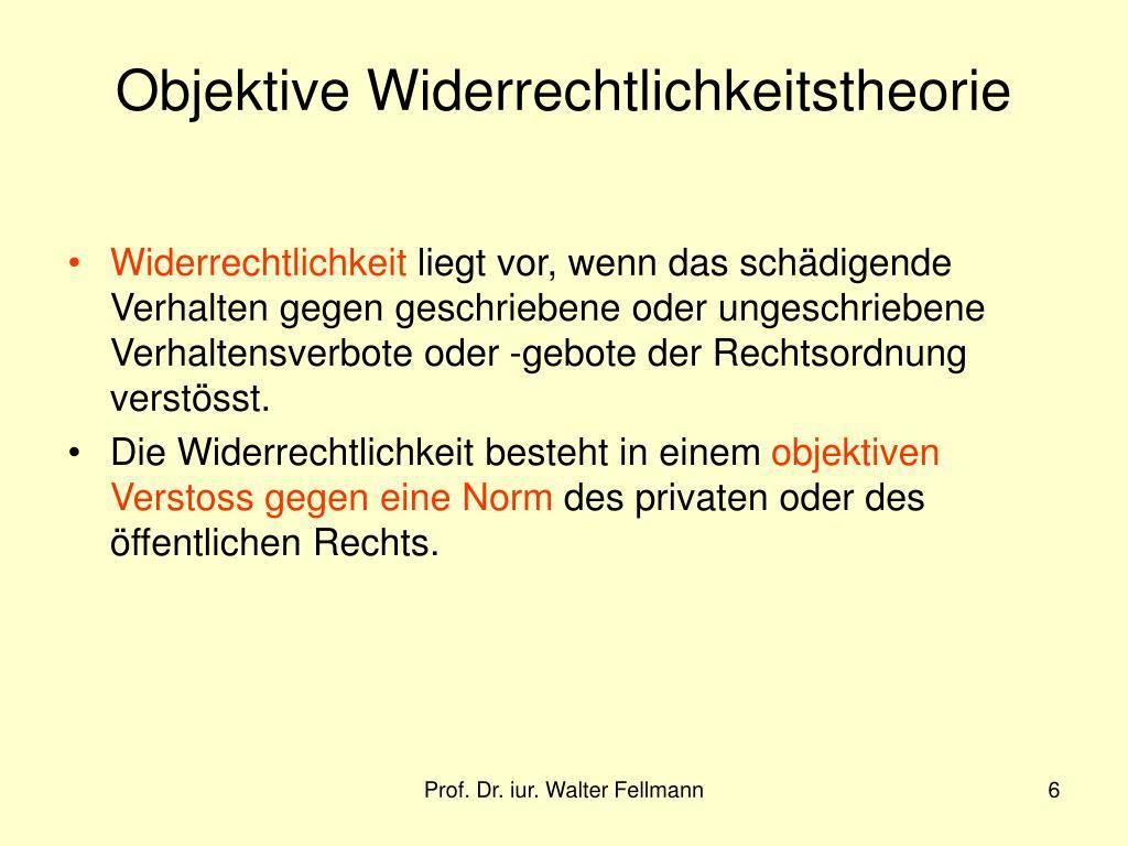 Objektive Widerrechtlichkeitstheorie