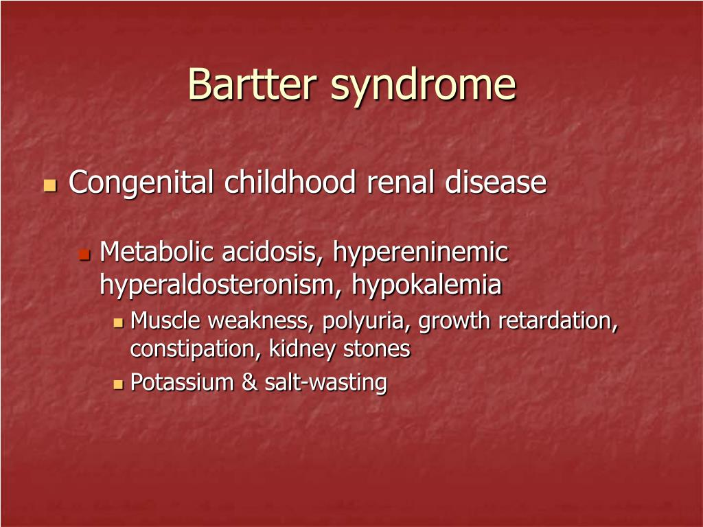 Bartter syndrome