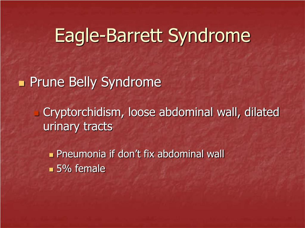 Eagle-Barrett Syndrome