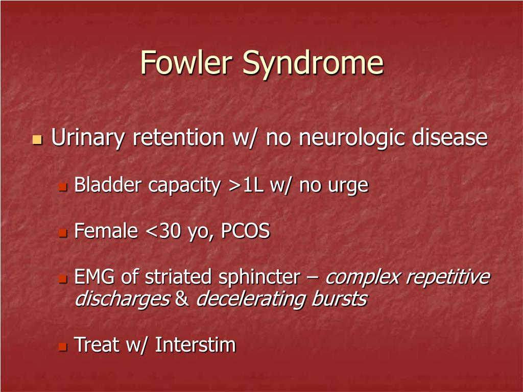 Fowler Syndrome