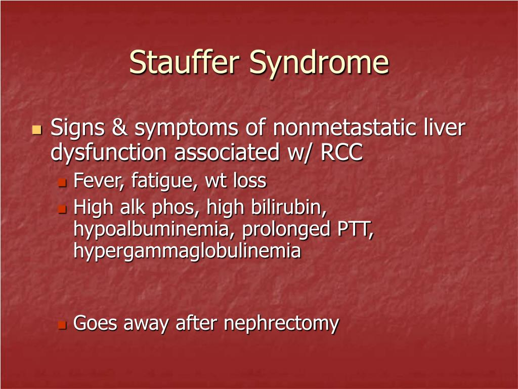 Stauffer Syndrome