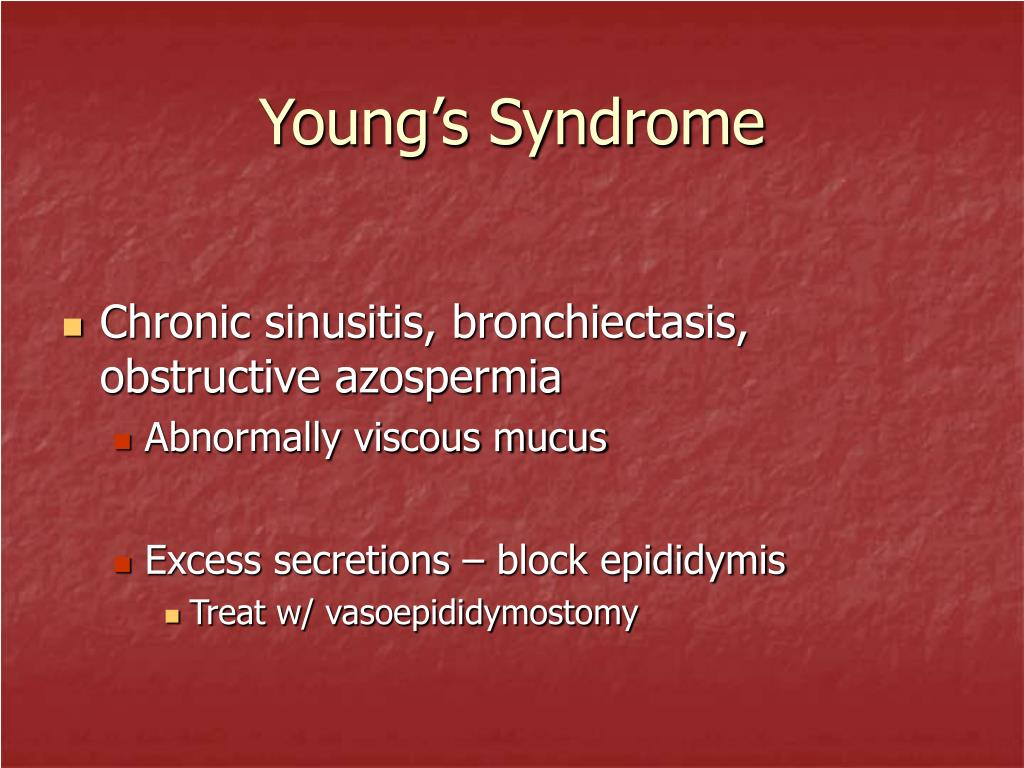 Young's Syndrome