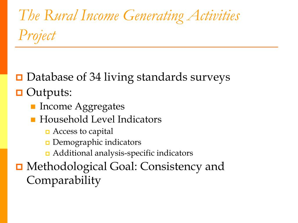 The Rural Income Generating Activities Project