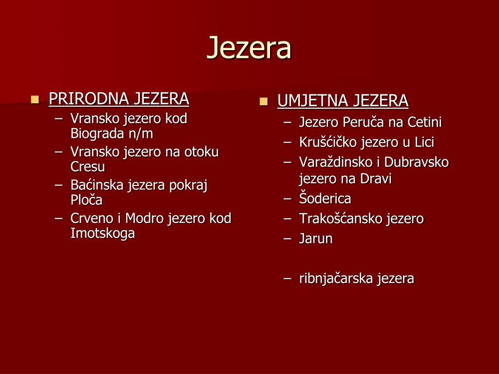 PRIRODNA JEZERA