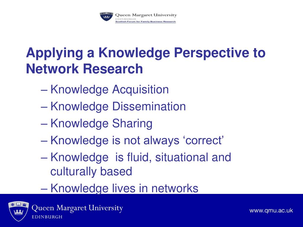 Applying a Knowledge Perspective to Network Research