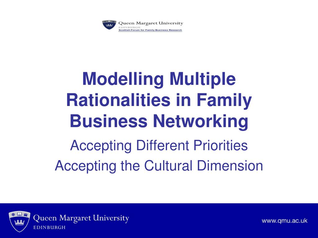 Modelling Multiple Rationalities in Family Business Networking