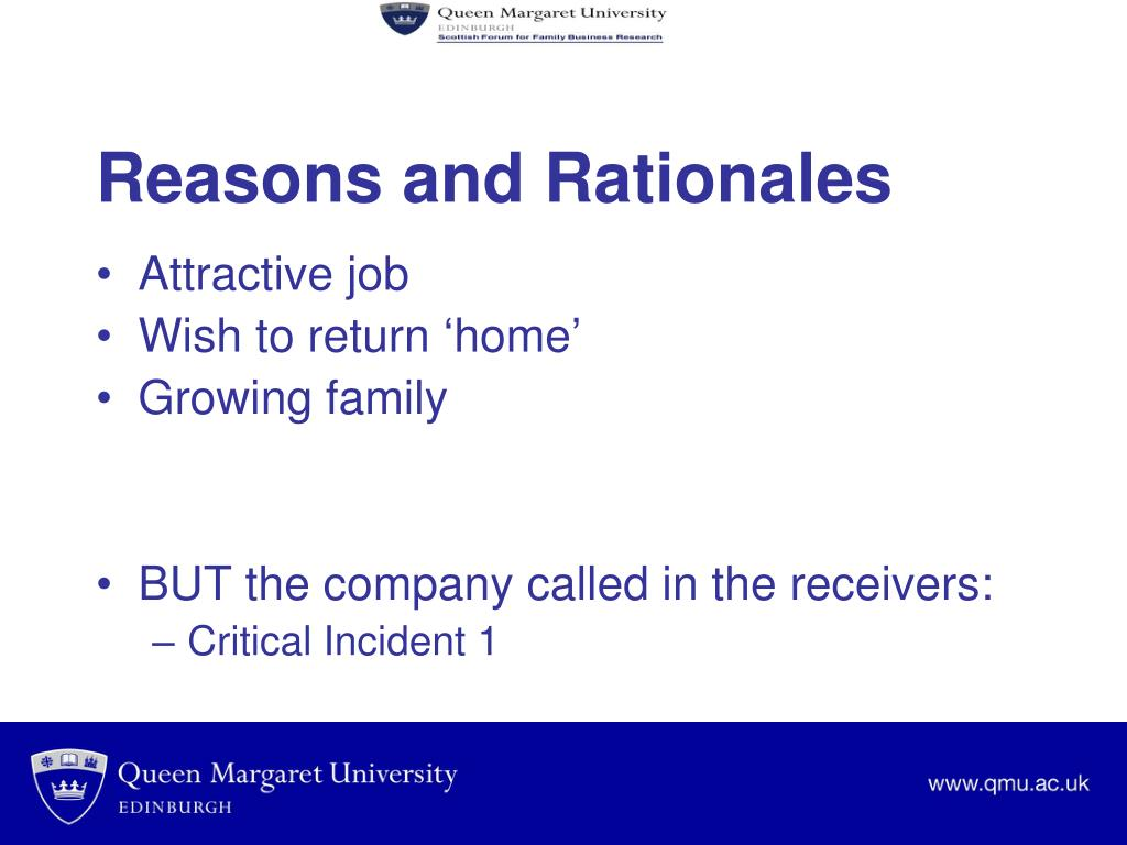 Reasons and Rationales