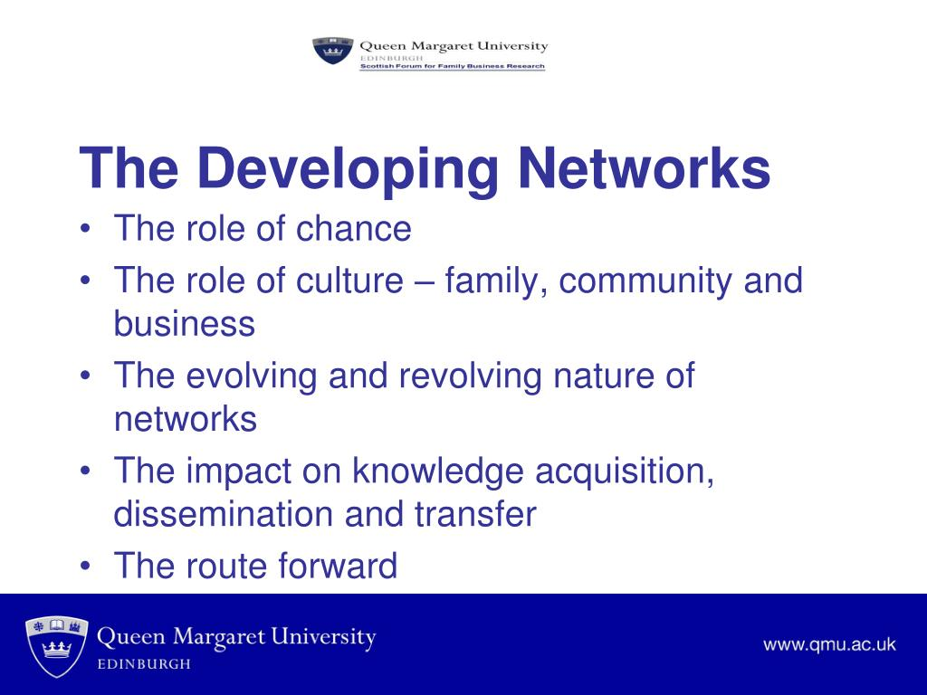 The Developing Networks