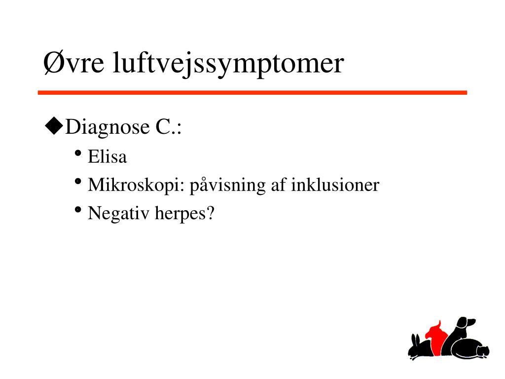 Øvre luftvejssymptomer