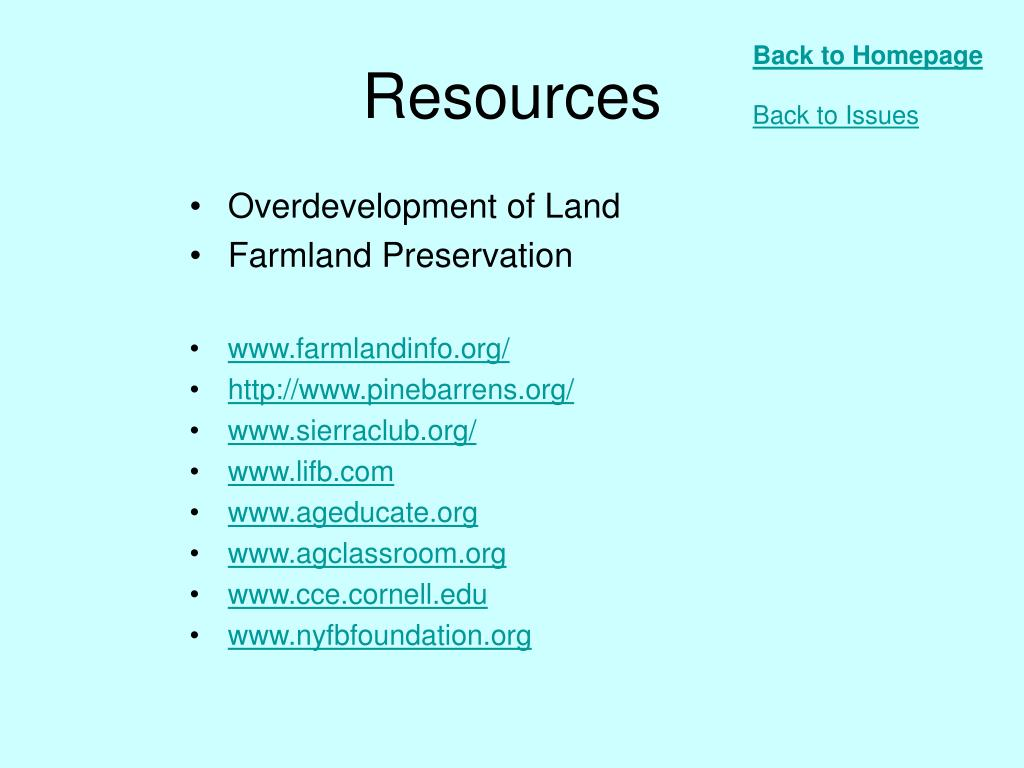 Overdevelopment of Land