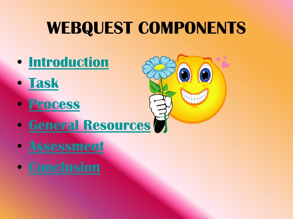 WEBQUEST COMPONENTS