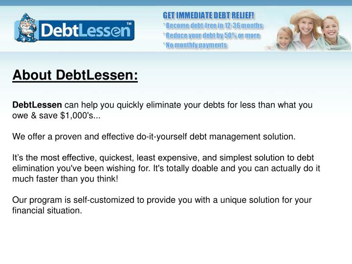 About DebtLessen:
