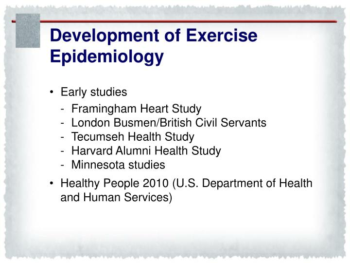 Development of Exercise