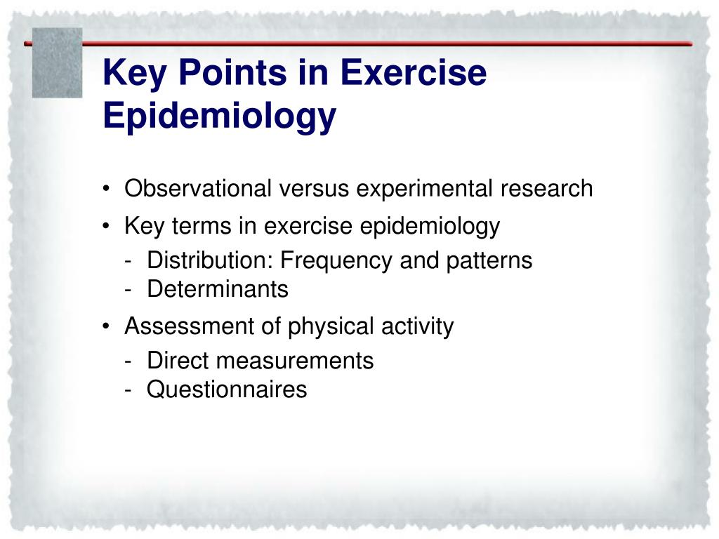 Key Points in Exercise