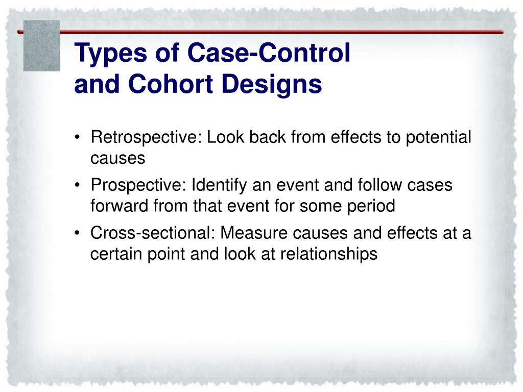 Types of Case-Control