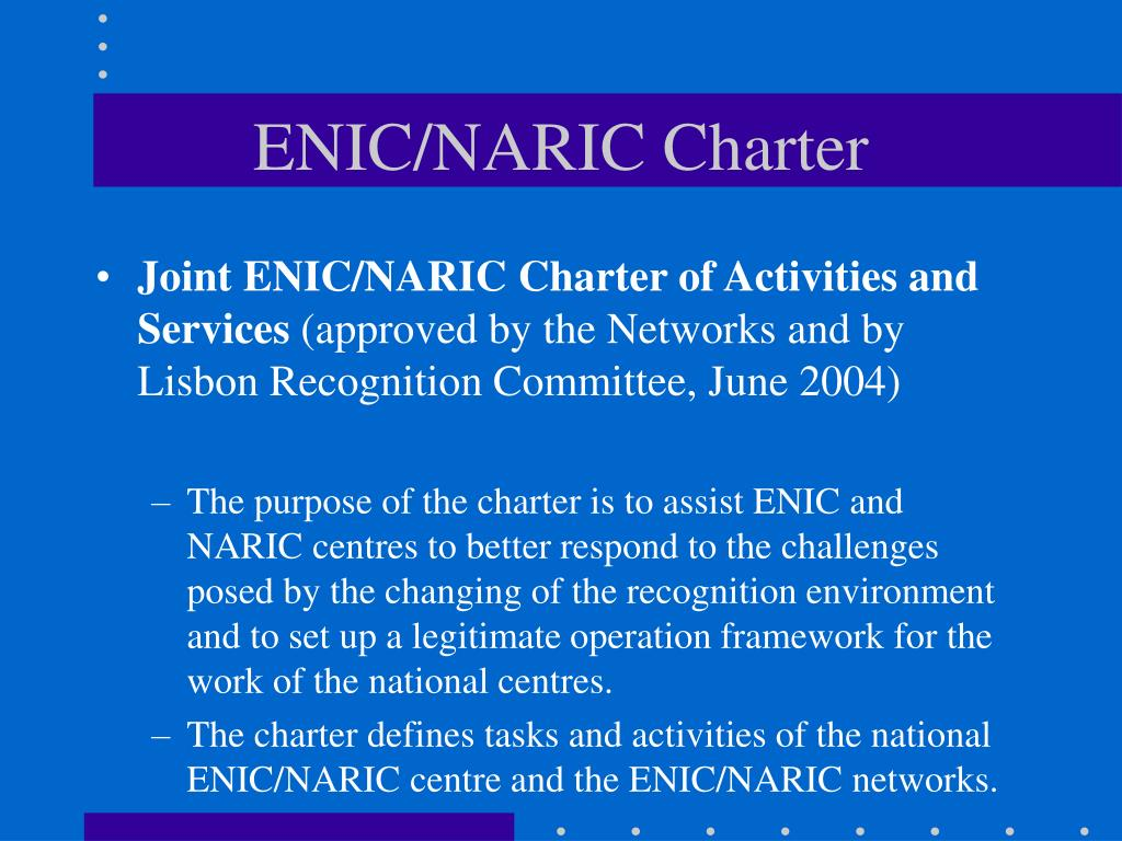 ENIC/NARIC Charter