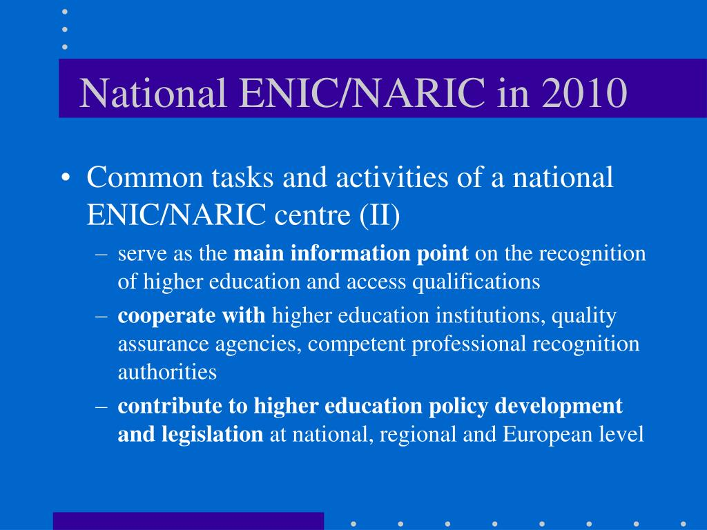 National ENIC/NARIC in 2010