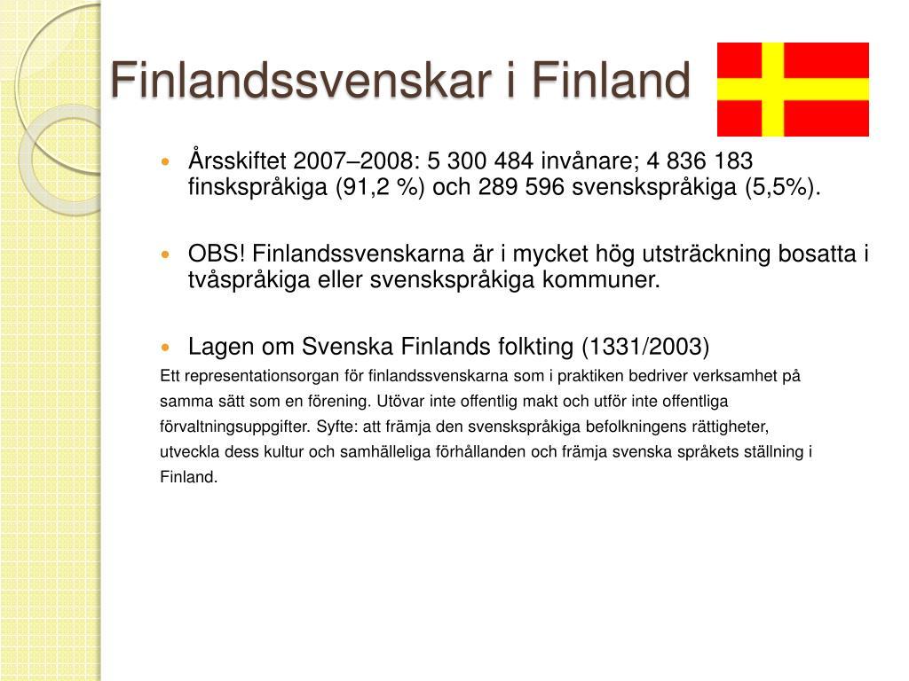 Finlandssvenskar i Finland