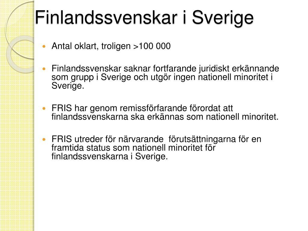 Finlandssvenskar i Sverige