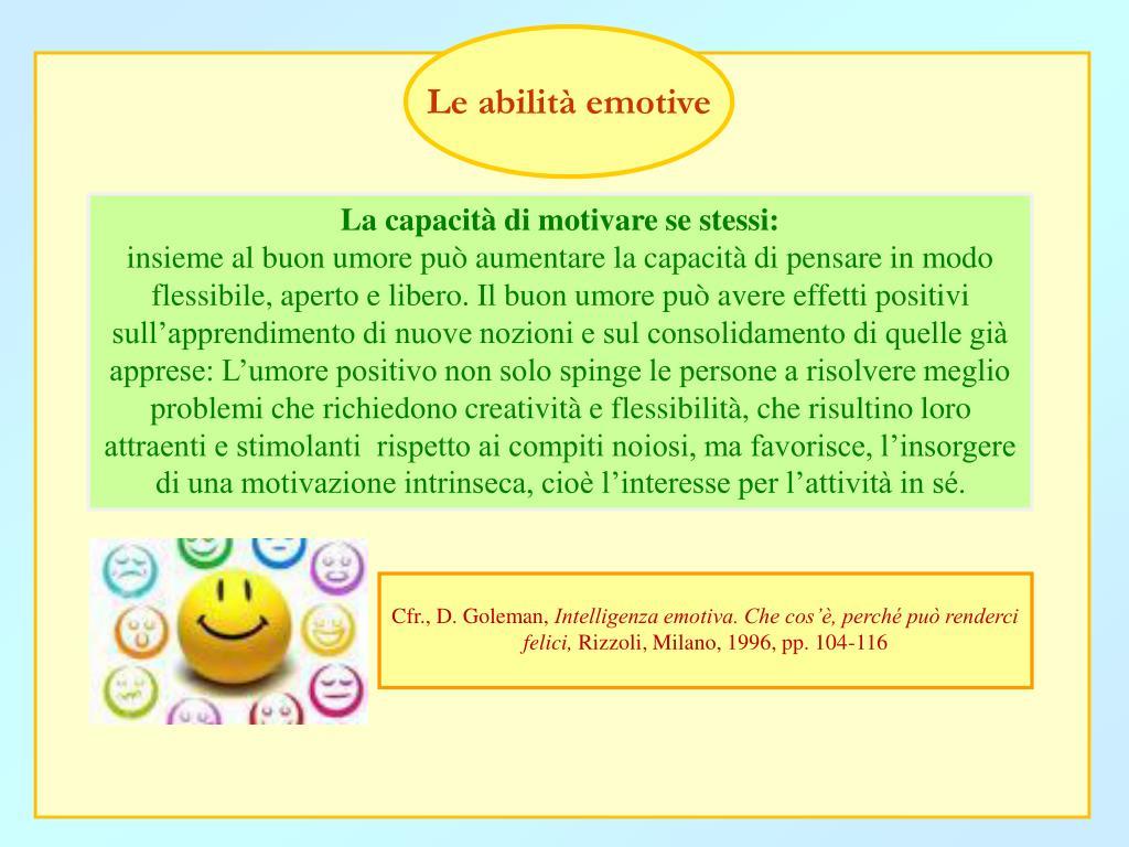 Le abilità emotive