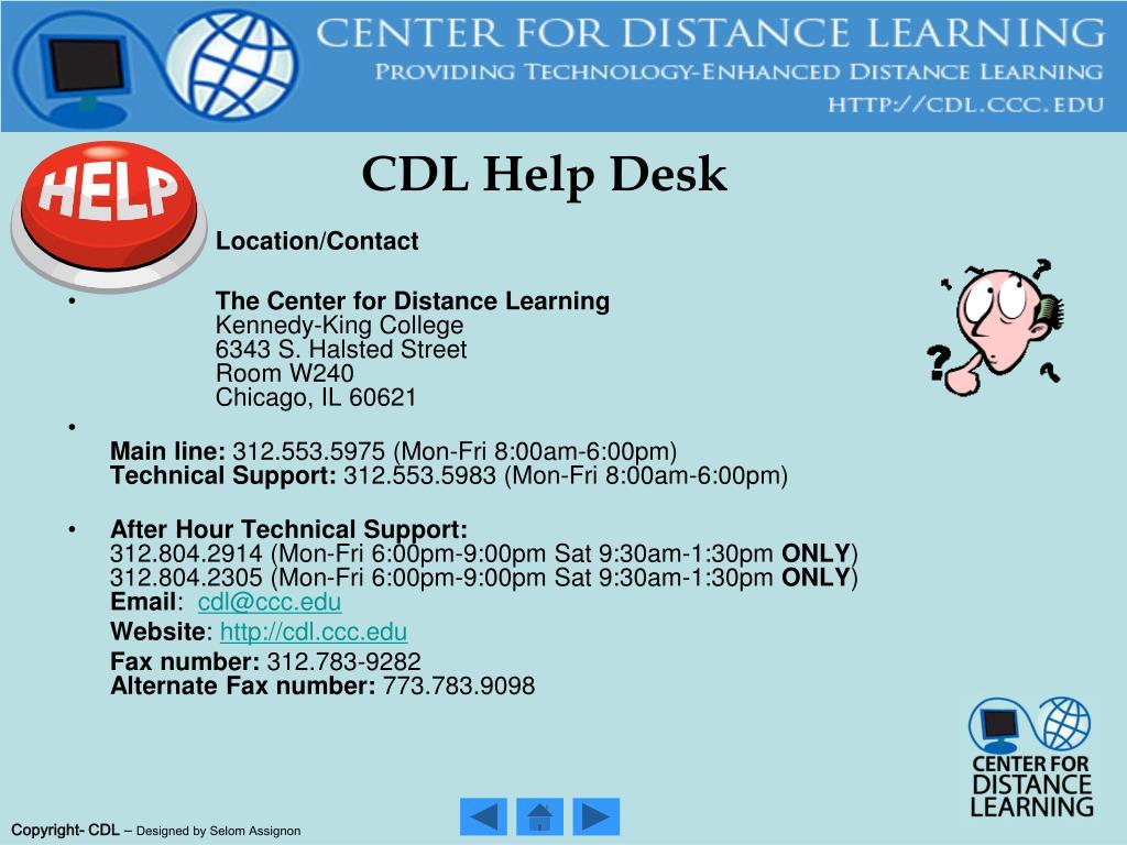 CDL Help Desk