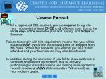 course pursuit