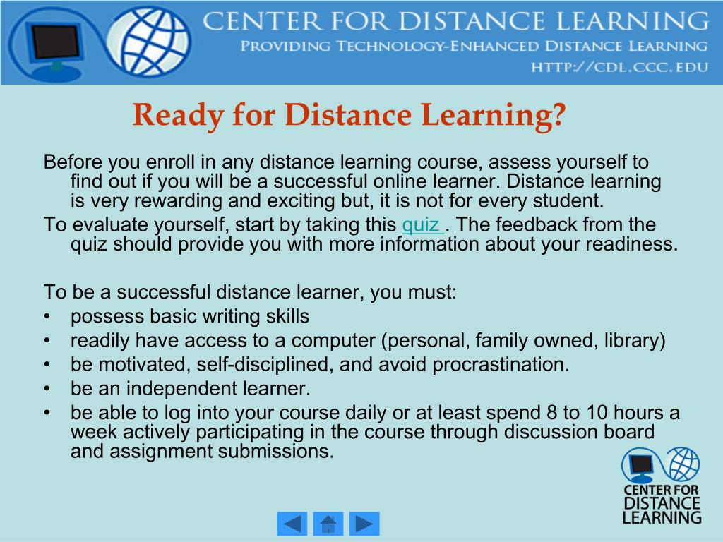 Ready for Distance Learning?