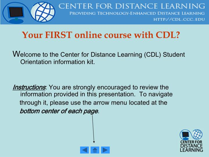 Your first online course with cdl